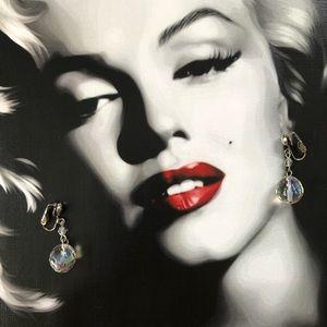 🔥 Vintage Aurora Borealis Clip On Earrings